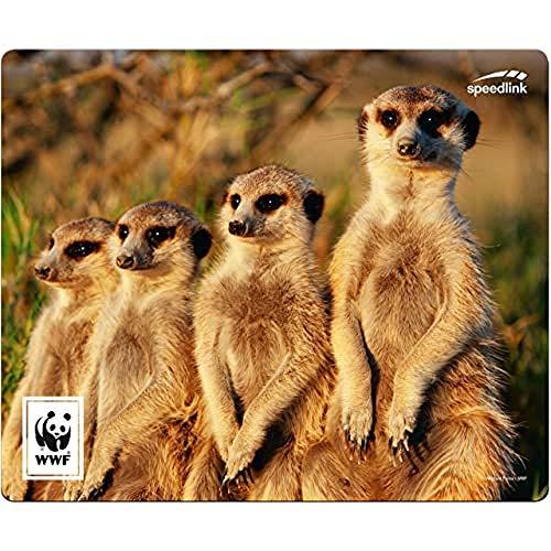Speedlink Mousepad TERRA WWF - Recyceltes Mauspad aus Strapazierfähigem Material, Erdmännchen