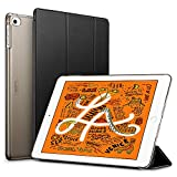 ESR iPad Mini 5 ケース 軽量 薄型 スマート iPad mini ケース 2019 耐衝撃 傷防止 クリア ハード 背面 カバー 三つ折り スタンド オートスリープ ウェイクアップ 機能 iPad Mini5(第五世代) 専用 ブラック