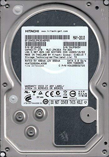 Hitachi HUA722020ALA330 P/N: 0F10452 MLC: JPK3EA Thailandia 2 TB (ricondizionato certificato)