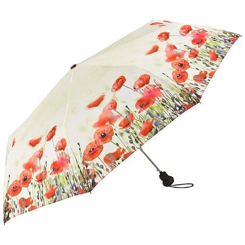 VON LILIENFELD Regenschirm Taschenschirm Mohnblumen Windfest Auf-Automatik Leicht Stabil Kompakt Blüten