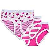 Feathers Girls Butterfly Print Snug Fit Tagless Briefs Underwear - 100% Cotton Super Soft Panties