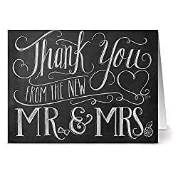 Thank you card from the new Mr. and Mrs.