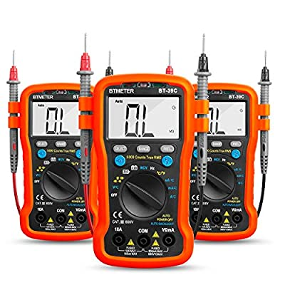 BTMETER Digital Multimeter BT-39C for AC/DC Voltage Current Resistance Measurement