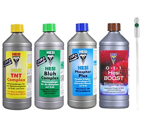 Hest Starter Set Medium TNT + Blüh Complex + Phosphor Plus + Boost je 1-Liter Box Kit