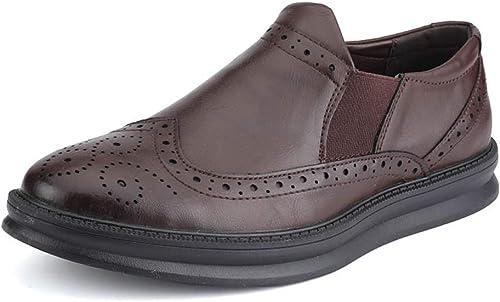 Fuxitoggo botas de Moda para Hombre, Zapaños de Trabaño con Punta rojoonda de Cuero OX con Cordones (Color  marrón, Tamaño  35 EU) (Color   negro, Tamaño   39 EU)