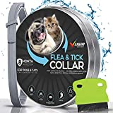 JAKOP Innovations Flea and Tick Collar for Dogs and Cats | Flea Comb | Flea Prevention for Small,...
