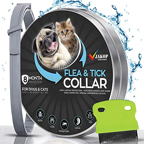 JAKOP Innovations Flea and Tick Collar for Dogs and Cats | Flea Comb | Flea...