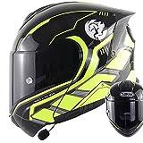 Casco De Moto Modular Bluetooth Integrado Mujer Hombre DOT ECE Homologado Cascos Abiertos De Moto Con Doble Visera Lente Grande Cascos Integrales De Moto Ventilado Casco Ligero Moto E,M=55~56CM