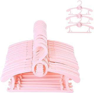 Sfesnid Perchas para Ropa Ajustables de Infantiles Bebé, ahorra espacio para armario Duradera Adecuada para Niños y Bebés 29-37CM Paquete 15 Unidades Rosado
