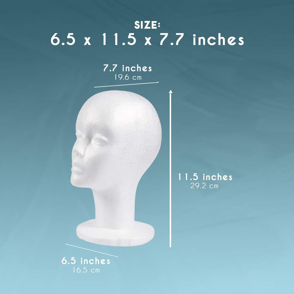 Polystyrene Unisex Foam Mannequin Head Display Model Wig Stand Female Dummy B4O0