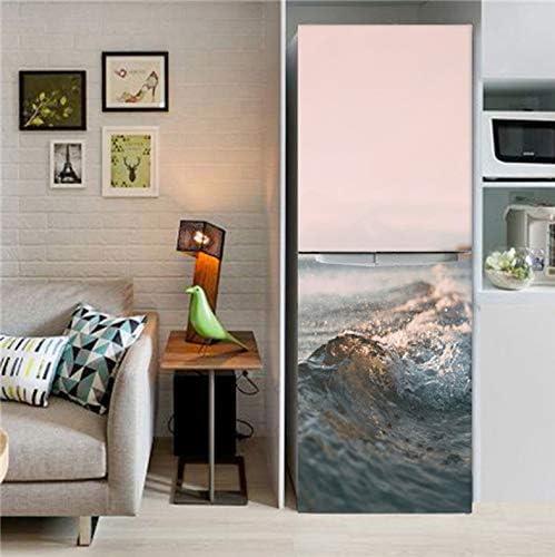 Zelfklevende koelkastdeur Sticker Cover Wallpaper vaatwasser koelkast Wrap Sticker