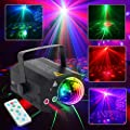 CHINLY Party Laser Lights 2 Lens+1 RGB Ball DJ Disco Stage Light Sound Activated Led Projector for Christmas Halloween Decorations Gift Birthday Wedding Karaoke Bar (Disco Ball Version)