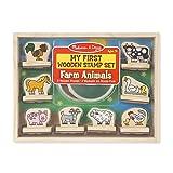 Melissa & Doug First Wooden Stamp Set – Farm Animals