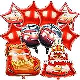cumpleaños cars simyron 10pcs Decoraciones Fiesta Cumpleaños Vehículos Globos Papel Aluminio Fiesta de cumpleaños para auto Suministros para niños