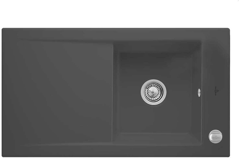 Villeroy & Boch Timeline 50 Grau Graphit Keramikspüle Auflagespülbecken Küche