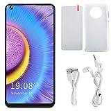 Jeankak Smartphones Desbloqueados (2 + 16Gb), Mate50 RS + 6.72In Pantalla Reconocimiento Facial Tarjeta Dual TeléFono Inteligente De Doble Modo De Espera con CáMara HD, BateríA De 2400Mah(Blanco)