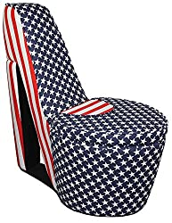 Stars and Stripes High Heel Storage Chair