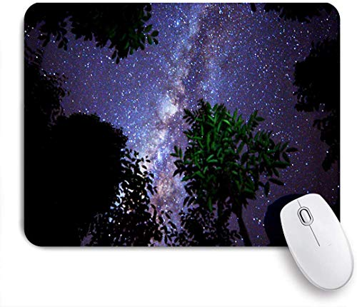 Minalo Gaming Mouse Pad Non-Slip Rubber Base,Beautiful Milkyway On A Night Sky,for Computer Laptop Office Desk,9.5 x 7.9in