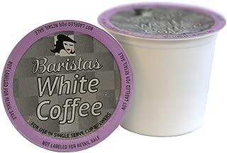 Baristas White Coffee Single Serve Coffee Cups, Keurig 2.0 Compatible