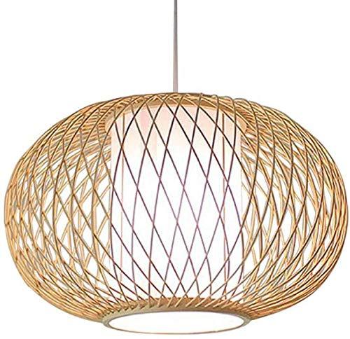 Lámpara de bambú retro china, lámpara de restaurante de jardín, estilo japonés, sudeste asiático, sala de té, sala de estar, estudio retro