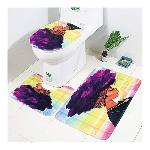WEIGENG Toalett toalettstolskydd Tocador matta wc matta bad inodoro badrumskommode (färg: Badmatta 4)