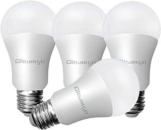 Gleamgo 4 Pack A19 LED Light Bulbs 100 Watt Equivalent 15W 3000K Warm White 1600LM E26 Base