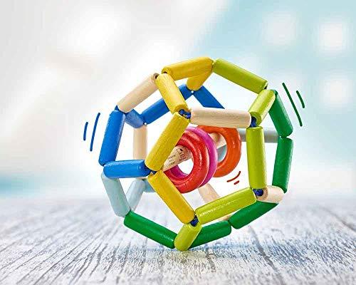 Selecta Balle-hochet Space en Bois Jouet à saisir, Multicolore