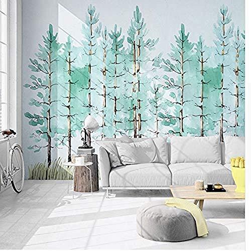 muurschildering kunst muurschildering stickers foto behang moderne mode pepermunt groen vers bos muurschildering muur papier woonkamer tv bank achtergrond muur 3 D_250cm(w) x160cm(h)(8'2