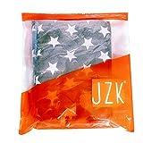 JZK 2 x Sterne Latzschürze Kochschürze Küchenschürze mit 2 Taschen Grillschürze Backschürze für Damen für Küche Garten BBQ - 2