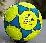 Lionstrike - Pallone da calcio, leggero, in cuoio, misura 4, Giallo...