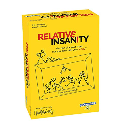 QIAOSHI Juego de cartas Crazy Party Game puzzle Monster Relative Insanity