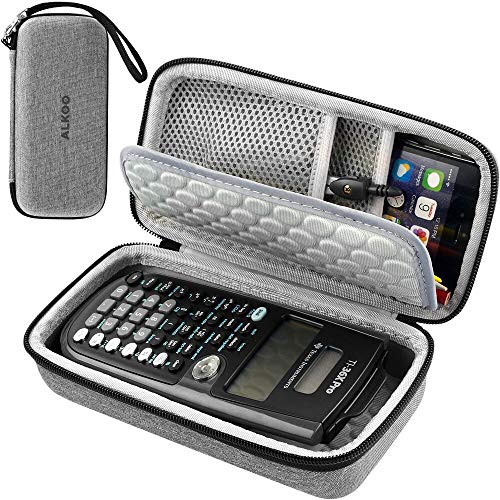 Case Compatible with Texas Instruments TI-36X Pro Engineering/Scientific Calculator, Hard Pencil Case for Compass, Ruler, Rubber and Other Accessories - Light Gray