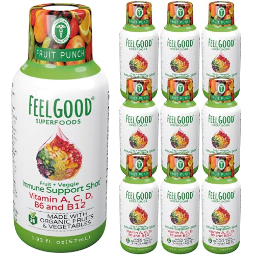 Feelgood Superfoods 26 Fruits and Veggies Immune Support Shot Supplements,...