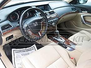 HONDA Accord sedán de 4 Puertas de Madera Burl Interior Dash Juego de Acabados Set 2008 2009 2010 2011 2012