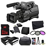 Sony HXR-MC2500 Shoulder Mount AVCHD Camcorder + NP-F970 Replacement Lithium Ion Battery+ 32GB SDHC Class 10 Memory Card + 37mm 3 Piece Filter Kit + XL Rugged Camcorder Case + SDHC Card USB Reader + Memory Card Wallet + Deluxe Starter KitBundle - International Version (No Warranty)