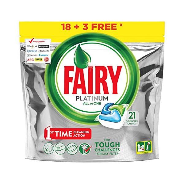 Fairy Platinum Original Detergente – 21 cápsulas