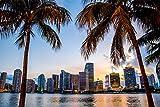 City Skyline Miami XXL Wandbild Kunstdruck Foto -Poster-