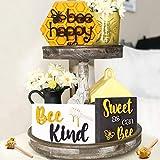 Huray Rayho Party-Bienen-Tablett-Schilder, Hummel-Motiv, Holzschilder, Honig-Dipper, Bauernhaus-Dekoration, Frühling, Sommer, Kaffee, Bar, Rae Dunn, 3D-Dekor