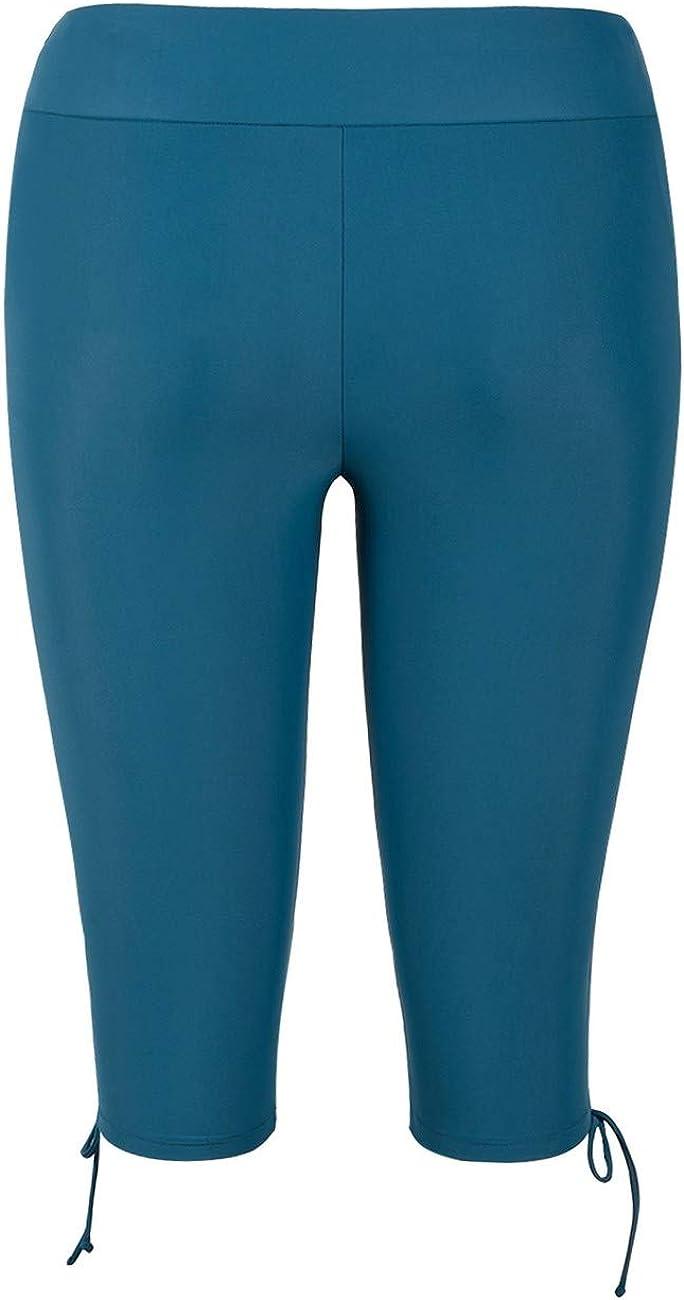 Swim Capris Board Shorts Swimsuit Bottom Firpearl Womens Swim Shorts Drawstring UPF50