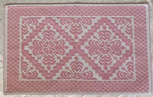 NOVEL MAISON Tappeto Modello sardo 100% Cotone arredo Bagno Camera Cucina (Rosa, 40X60)