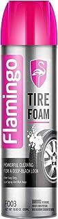 FLAMINGO TIRE FOAM, TIRE CARE, TIRE CLEANER F003, 650ML, منظف و ملمع اطارات رغوة