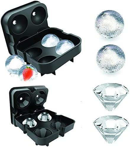 Silicone Ice Cube Tray with Lid Ball Skull Dimond Ice Cube Tray for Cocktail Whiskey Drinks product image