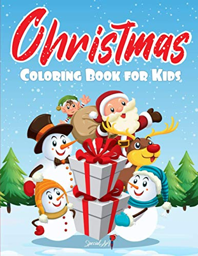 Christmas Coloring Book for Kids: Immerse yourself in the Magic of Christmas with more than 50 Coloring Pages with Funny Reindeer, Santa Claus, ... Decorations and much more! (Christmas Gift)