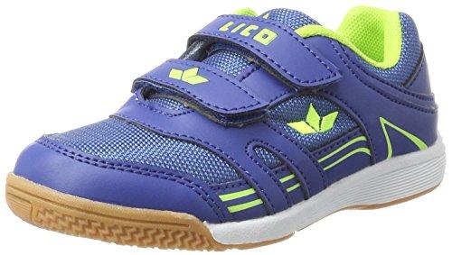 Lico Active Indoor Boy V Jungen Multisport Indoor Schuhe, Blau/ Lemon Lot, 33 EU