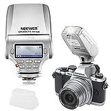 Neewer NW320 TTL - Flash LCD para Panasonic Lumix DMC GF7 GM5 GH4 GM1 GX7 G6 GF6 GH3 G5 GF5 GX1 GF3 G3, Olympus OM-D E-M5 II E-M10 E-M1 Pen E-PL7 E-P5 E-PL6 E-PL5 E-PM2 E-P3 E-P3 PL3