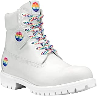 white rainbow timberlands