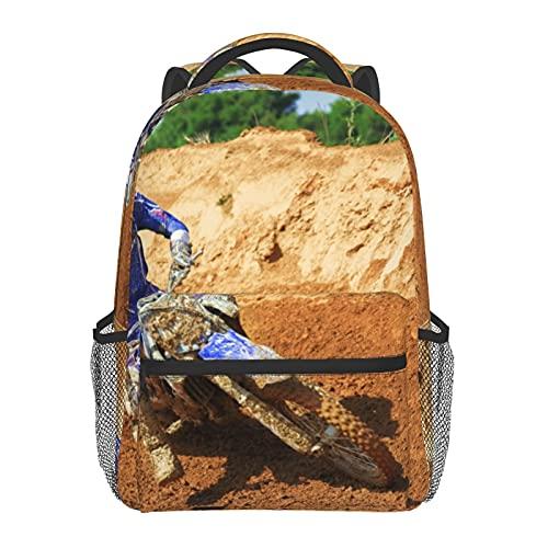 BYETWIK Schulrucksack Schultaschen Mädchen Jungen Teenager Rucksack, Sand Sportfahrrad Schultasche Schulrucksäcke Backpack für Damen Herren Geeignet
