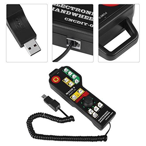 Handmatige CNC-afstandsbediening, USB-poort 6-assige accessoires besturing met geïntegreerde functietoetsen voor CNC-graveermachinebediening Mach3