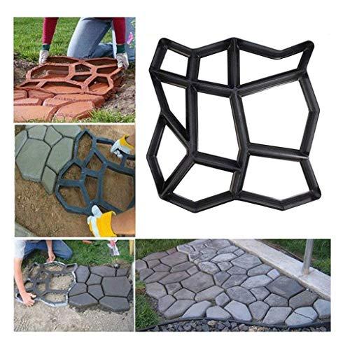 17' x 17' Large Size Concrete Molds DIY Walk Maker Garden Path Paving Brick Mould Patio Pathmate Stone Mold Concrete Stamps Stepping Paver Walk Way Garden Courtyard Decoration Irregular Pattern