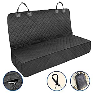 Petural Dog Car Seat Covers – Waterproof Back Seat Car Cover for Sedan, Truck and SUV – Back Seat Protector for Dogs with Seat Belt – Tear Resistant – Ideal for Dogs and Kids
